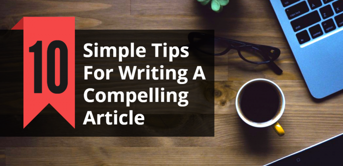 How to Write a Good Article in One Easy Lesson