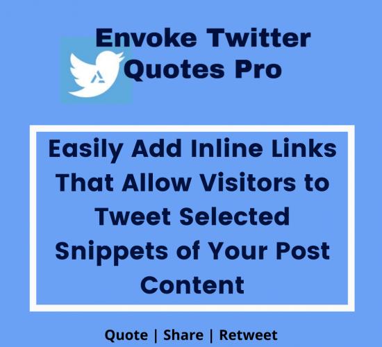 Envoke Twitter Quotes Pro