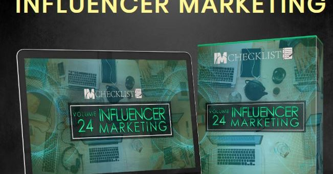 18 Top Quality PLR Checklists on the Benefits of Influencer Marketing